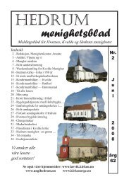 Nr. 2 juni 2008 - Larvik kirkelige fellesråd