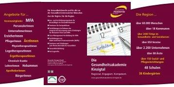 Die Gesundheitsakademie Kinzigtal – Regional. Engagiert. Kompetent.