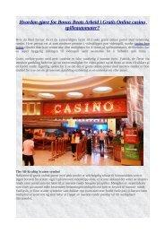 Hvordan gjøre for Bonus Beats Arbeid i Gratis Online casino spilleautomater?