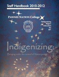 Staff Handbook 2010 - 2012 - Pawnee Nation College