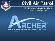 ARCHER Presentation - Civil Air Patrol, Maryland Wing