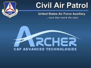 ARCHER Presentation   Civil Air Patrol, Maryland Wing