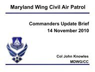Safety - Special Staff - Civil Air Patrol, Maryland Wing