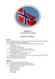 PROGRAM 17. mai 2013 i Sør-Aurdal Gratulerer med ... - Reinli.no