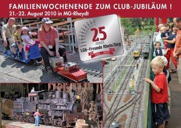 familienwochenende zum club-jubiläum - LGB Club Rhein / Sieg