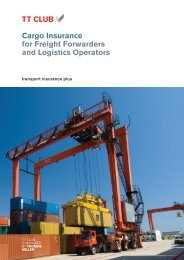 Cargo Insurance for Freight Forwarders and Logistics ... - TT Club