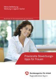 Praxisnahe Bewerbungstipps für Frauen - Bundesagentur für Arbeit