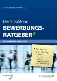BEWERBUNGS- RATGEBER* - Stepstone