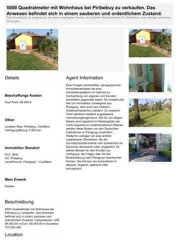 5000 Quadratmeter mit Wohnhaus bei Piribebuy zu verkaufen. Das ...