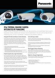 IP66 THERMAL IMAGING CAMERA INTEGRATED BY PANASONIC