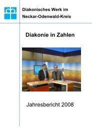 Diakonie in Zahlen Jahresbericht 2008 - Diakonisches Werk im ...