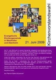 Kandidatenvorstellung Westhofen - Evangelische Kirchengemeinde ...