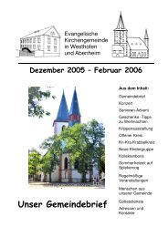 Kollektenbons - Evangelische Kirchengemeinde Westhofen und ...