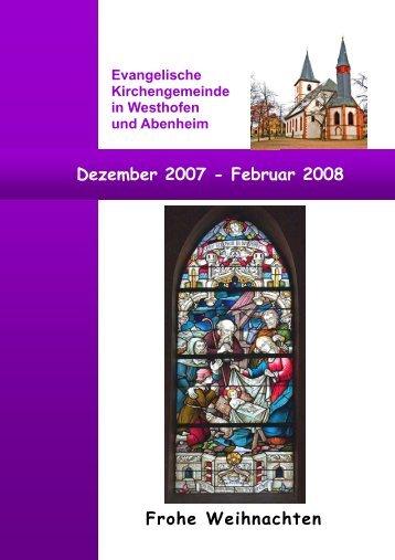 Dezember bis Februar 2008 - Evangelische Kirchengemeinde ...