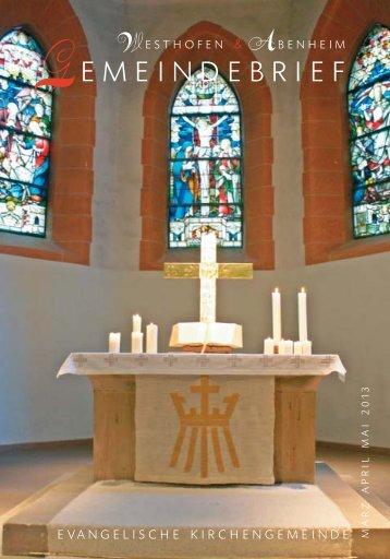 downloaden - Evangelische Kirchengemeinde Westhofen und ...