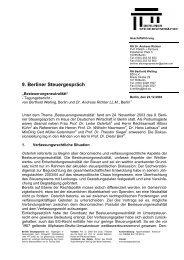 Tagungsbericht 9. Berliner Steuergespräch (PDF-Format)