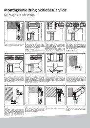 Montageanleitung Schiebetür Slide Montage vor der Wand