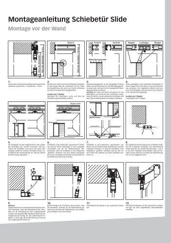 montageanleitung schiebet r slide. Black Bedroom Furniture Sets. Home Design Ideas