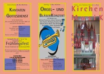 erste Hälfte 2012.pmd - Förderkreis für Kirchenmusik NEA