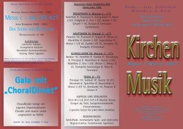 Programm-Flyer - Förderkreis für Kirchenmusik NEA