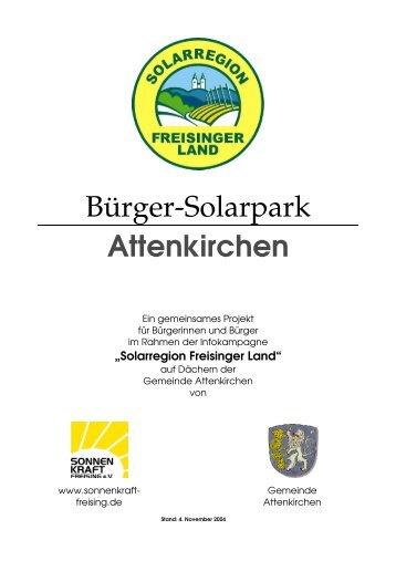 Bürger-Solarpark Attenkirchen - Easy Energiedienste GmbH