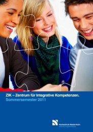 ZIK – Zentrum für Integrative Kompetenzen ... - FAN09