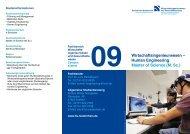 Human Engineering Master of Science (M. Sc.) - FAN09