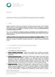 Pokyny pro zajištění pohledávky (v případě půjčky)
