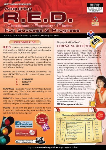 TRAINING PROGRMIVIES - Training Provider Malaysia