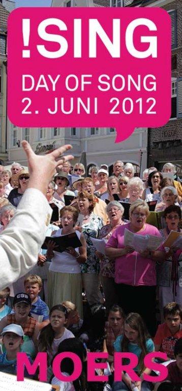 Programmheft !sing Day of Song 2. Juni 2012 - Stadt Moers