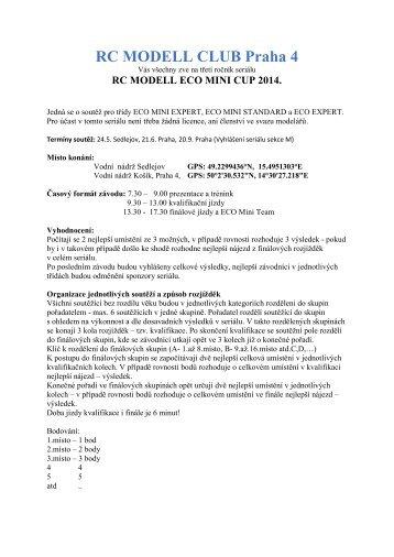 Propozice. - RC Modell Club Praha