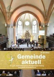 Gemeinde aktuell - Ev.-Luth. Jakobi-Christophorus Kirchgemeinde ...