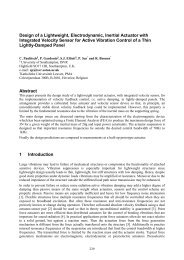 Design of a Lightweight, Electrodynamic, Inertial Actuator with ...