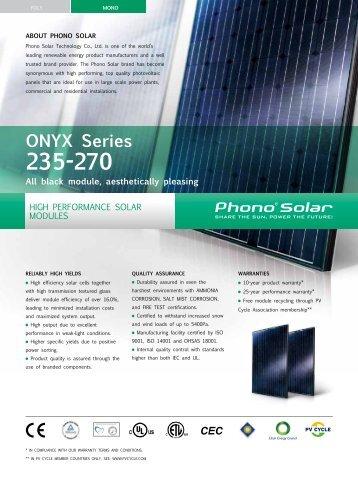Datasheet Solon 230 02 Solar Panels 245 250w Mono Black