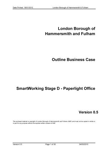 Item 8a - Meetings, agendas and minutes - Hammersmith & Fulham
