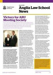 Anglia Law School News Spring 2015