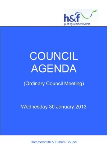 Agenda frontsheet PDF 185 KB - Meetings, agendas and minutes