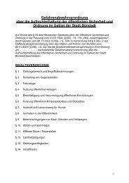 Gefahrenabwehrverordnung über die ... - SPD Bürstadt