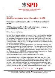 Haushaltsrede 2008 - SPD Bürstadt