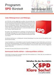 Programm - SPD Bürstadt