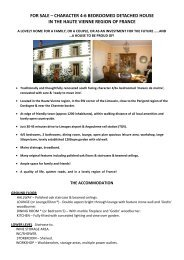 FOR SALE – CHARACTER 4-6 BEDROOMED ... - the SHRA website