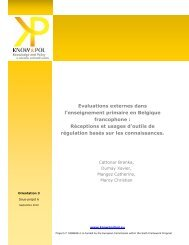 Belgium Educ Rapport O3 Final FR - Knowandpol.eu