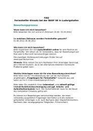 FAQ Ferienhelfer-Einsatz bei der BASF SE in ... - BASF.com