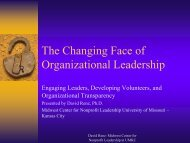 The Changing Face of Organizational Leadership