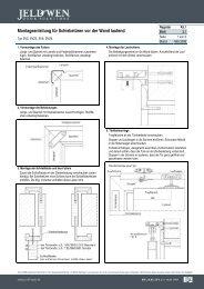 2.1 Montageanleitung für Schiebetüren vor der Wand ... - Jeld Wen