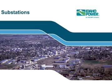 Substations Presentation - Idaho Power