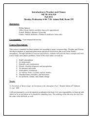 Introduction to Weather and Climate METR 1014-910 Fall 2012 ...