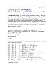 METR 1014-011 Introduction to Weather and Climate Laboratory ...