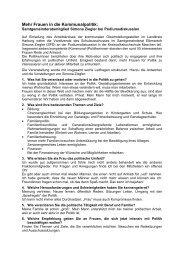 Mehr Frauen in die Kommunalpolitik: - SPD-Elbmarsch