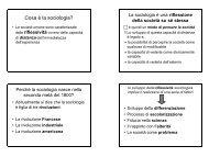 Cosa è la sociologia? - Scienze Politiche